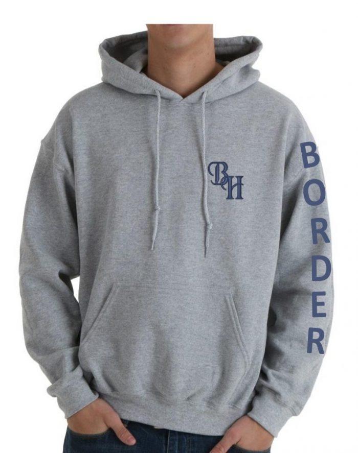 Border Hunt- Grey Hoodie