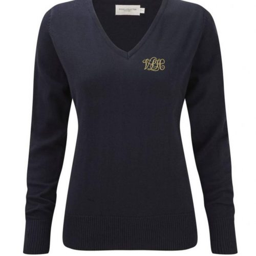 V-Neck Ladies Knitted Pullover