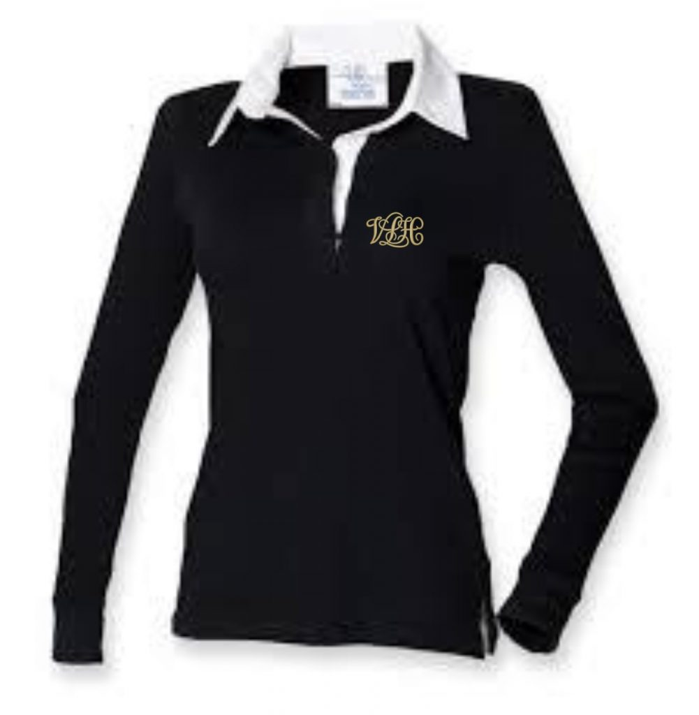 Ladies Long Sleeve Rugby Shirt • C & A Embroidery and Print